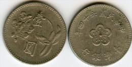 Taiwan 1 Yuan 64 ( 1975 ) KM 536 - Taiwan