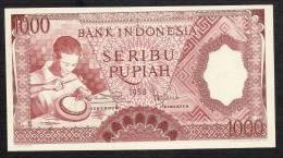 INDONESIA  P61  1000  RUPIAH    1958   UNC. - Indonésie