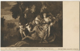 The Rape Of Europa Le Viol De L Europe Rapt Par Paolo Veronse Verona Verone Femme Nue Boeufs - Cartes Postales