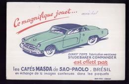 B338 - BUVARD -  CAFES MASDA De SAO-PAOLO - BRESIL  -  STUDEBAKER - Café & Thé