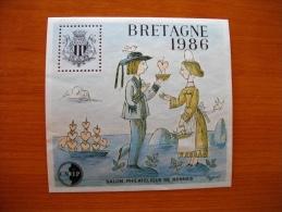 France Blocs De La CNEP Bloc N° 7 Bretagne Neuf Sans Gomme TB - France