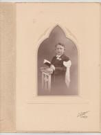 PHOTO MAISON L. LEGER PHOTOGRAPHE LIBRAIRE CHARLY SUR MARNE COMMUNIANT 24 MAI 1936 - Persone Anonimi