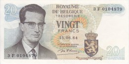 Belgique Billet De 20 Francs Du 15/06/1964 - [ 2] 1831-... : Royaume De Belgique