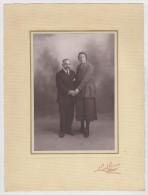 PHOTO MAISON L. LEGER PHOTOGRAPHE LIBRAIRE CHARLY SUR MARNE COUPLE - Persone Anonimi