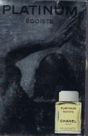 CHANEL -- Platinium - Egoïste . - Perfume Cards