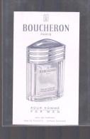 BOUCHERON -- Eau De Parfum - Pour Homme . - Perfume Cards