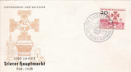 FDC 1958 TRIER 1000 Jahre Trierer Hauptmarkt - [7] République Fédérale