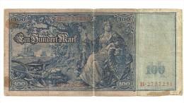 Billet De 100 Marks : Reichsbanknote - [ 2] 1871-1918 : Empire Allemand