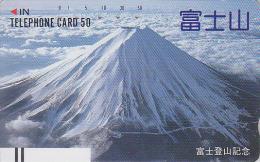 Télécarte Ancienne Japon / 110-23198 - Volcan MONT FUJI / Verso B - Mountain Vulcan Japan Front Bar Phonecard - 246 - Volcans