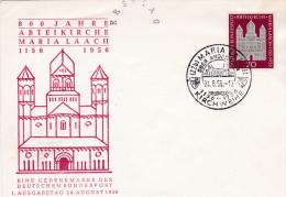 FDC 1956 Maria Laach 800 Jahre Abteikirche Maria Laach - Christianisme