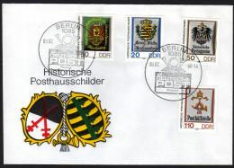 DDR 1990 - Historische Posthausschilder - Sonderstempel FDC - Post