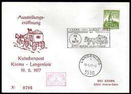 ÖSTERREICH 1977 - Postbeförderung Mit Postkutsche Krems - Langenlois - Sonderausgabe - Post
