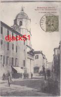 34 - Bédarieux (Hérault) - Eglise Et Rue Saint-Alexandre - 1917 - Belle Animation / 2 Scans - Bedarieux