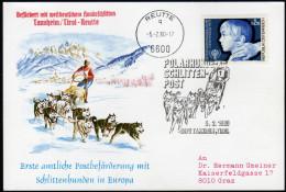 ÖSTERREICH 1980 - Postbeförderung Mit Polar Hunde Schlitten / SOS Kinderdorf - Sonderausgabe - Post