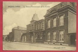 Erquelinnes - La Maison Communale Et Les Ecoles - 1912 ( Voir Verso ) - Erquelinnes