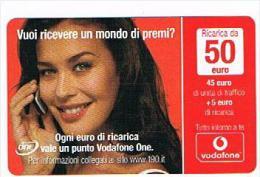 VODAFONE ITALIA - CAT.C.&C.(7^ EDIZ.) NC -  MEGAN 50 EURO  SC.  2012.01  - USATA (RIF. CP) - Italia