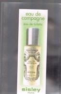 SISLEY -- Eau De Campagne . - Perfume Cards