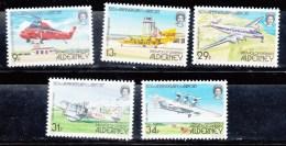 1985 50th Ann Od ALDERNEY AIRPORT PLANES SG A18/22 MNH - Alderney