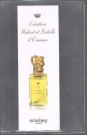 SISLEY -- Création Hubert Et Isabelle D'Ornano . - Perfume Cards