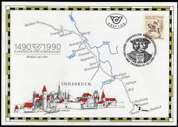 ÖSTERREICH 1990 - 500 Jahre Europäische Postverbindung - Ersttag Sonderausgabe - Post