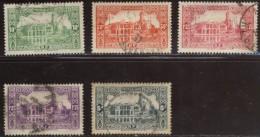 Algérie - Oblitéré - Charnière  Y&T 1936 N° 105 - 112 - 117 - 124 - 140 L'Amirauté à Alger 10c 50c 1f25 5f 1f25 - Usati