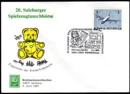 ÖSTERREICH 1989 - 20.Salzburger Spielzeugtauschbörse Für Die Kinderkrebshilfe - Sonderstempel - Puppen