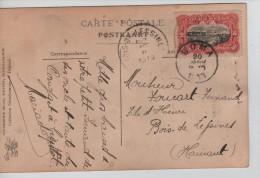 TP 10 C Mols S/CP Type De Femme Bougbou-Mobaye C.Boma En 1913 V.Bois De Lessines C.d'arrivée PR2261 - Congo Belge