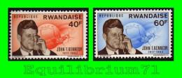 126A/127A** - Anniversaire De La Mort Du Président Kennedy - RWANDA - 1962-69: Neufs