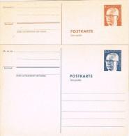 14182. Dos Entero Postal Alemania Federal, Postkarte Heinemann 40 Y 50 Pf ** - Postales - Nuevos