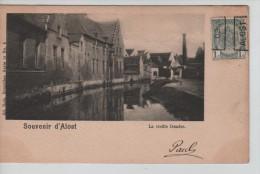TP 53 Roulette Alost 1902 S/CP Souvenir D'Alost Nels Série 15 N°9 C.Alost 1902 V.Ixelles PR2264 - Roller Precancels 1900-09