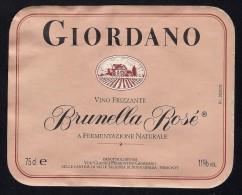 # BRUNELLA ROSE´ GIORDANO PIEMONTE Wine Label Italy, Wein Vino Vin Etiquette Etiqueta Etikett - Vino Rosato