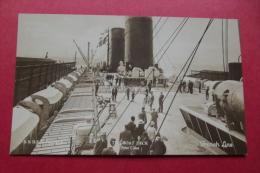 Cp  S.s Ile De France The Boat Deck First Class - Piroscafi