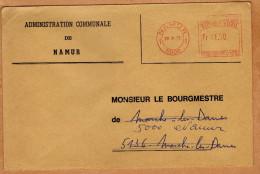 Enveloppe Brief Cover Administration Communale De Namur - Belgien