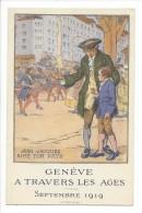 Genève à Travers Les Ages Septembre 1919 Jean-Jacques Aime Ton Pays - GE Genève