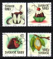 SCHWEDEN 2007 - Schokolade, Konfekt, Kakao - MiNr.2597-2600 Kompletter Satz - Ernährung