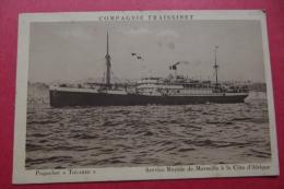 """Cp   Paquebot """" Touareg"""" Service Rapide De Marseille A La Cote D'afrique - Piroscafi"""