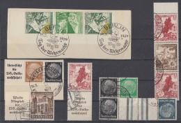 DR Lot Zusammendrucke Gestempelt - Briefmarken