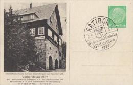 DR Privat-Ganzsache Minr. PP126 C21/01 SST Ratibor 6.6.37 - Deutschland
