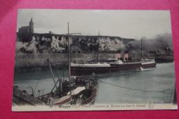 """Cp Dieppe La """" Tamise"""" Courrier De Newhaven Dans Le Chenal - Piroscafi"""