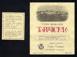 # VINO ROSATO TORRICCIOLA TANNOJA PUGLIA  Wine Label Italy, Wein Vino Vin Etiquette Etiqueta Etikett - Vino Rosato