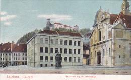 LJ213   --  LJUBLJANA  --  LAIBACH    --  SV. JAKOBA TRG,  ST. JAKOBSPLATZ  --  1909 - Slovenië