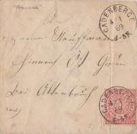 NDP Brief EF Minr.4 Cadenberge 4.1.69 - Norddeutscher Postbezirk