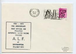 GB 1971 Commemorative Cover Automatic Letter Facing Southampton - T1 T2 T3 T4 - 4 Covers (E297) - Marcofilia