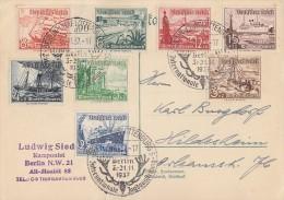 DR Karte Mif Minr.651-658 SST Berlin 20.11.37 Int. Jagdausstellung - Deutschland