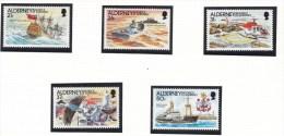 1991 AUTOMATION LES CASQUETS LIGHTHOUSE LEUCHFEUER FARO SHIPS  SG A47/51 MNH - Alderney