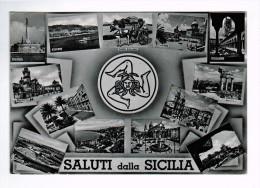 5267      Cpm  SALUTI Dalla SICILIA  1958 , Carte Photo ! - Italia