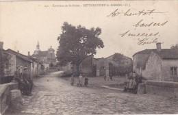 D CPA 52 ST SAINT DIZIER ENVIRONS BETTANCOURT LA FERREE ASSEZ RARE ANIMEE A VOIR 1903 PAIRE TIMBRE TAXE 5C BLEU - Saint Dizier
