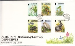 1994 5th MAY FAUNA AND FLORA OF THE ISLAND 1st Group FDC - Alderney