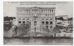 MONACO - N° 2 - MUSEE OCEANOGRAPHIQUE - FACADE COTE DE LA MER - CPA NON VOYAGEE - Ozeanographisches Museum