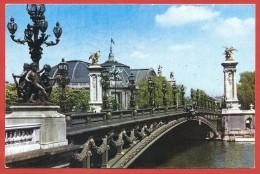 CARTOLINA VG FRANCIA - PUBBLICITARIA PHARMADON DOLPVC - Paris - Pont Alexandre - 10 X 15 - ANN. 1957 - Publicidad
